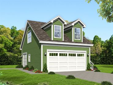 Unique 3-Car Garage Plan, 062G-0110