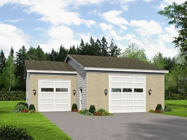 RV Garage Plan, 062G-0122