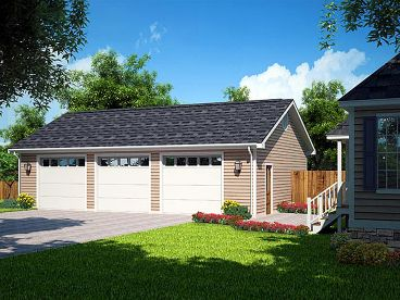 Three-Car Garage Plan, 047G-0021