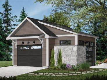 Garage Plan with Storage, 028G-0062