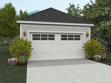Two-Car Garage Plan, 062G-0008