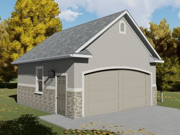 2-Car Garage Plan, 065G-0008