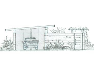1-Car Carport Plan, 085G-0002