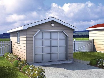 1-Car Garage Plan, 047G-0001