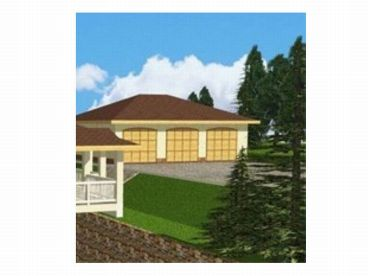 Three-Car Garage Plan, 012G-0007