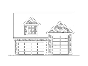 RV Garage Loft Plan, 024G-0011