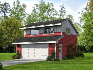 Garage Plan with Loft, 062G-0027
