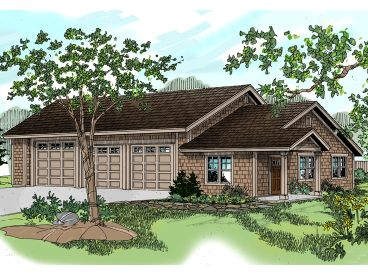 3-Car Garage Plan, 051G-0037