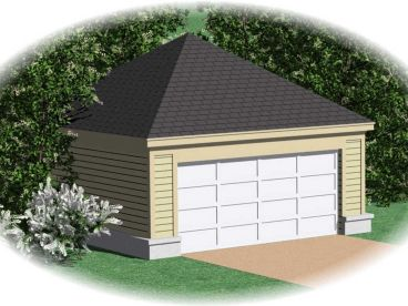 Two-Car Garage Design, 006G-0016
