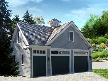 Garage Plan with Loft, 009G-0016