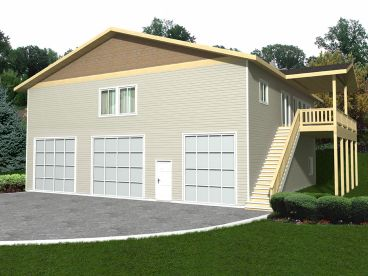 Garage Apartment Plan, 012G-0104