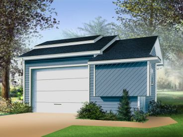 Contemporary Garage Plan, 072G-0006