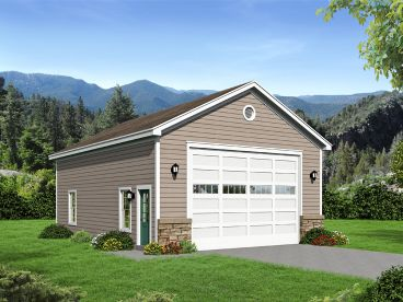 RV Garage Plan with Storage, 062G-0097