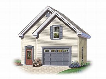 Garage Plan with Boat Storage, 028G-0010
