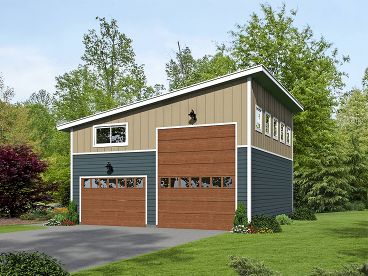 Modern RV Garage Plan, 062G-0076