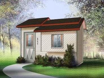 Backyard Storage Shed Plan, 072S-0007