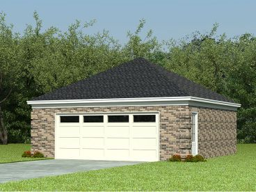 2 Car Garage Plans Two Car Garage Plan With Hip Roof