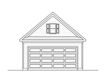 Two-Car Garage Plan, 019G-0002