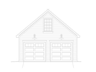 2-Car Garage with Loft, 062G-0034