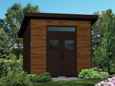 Storage Shed Plan, 072S-0028