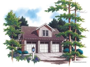 3-Car Garage Loft Plan, 034G-0004