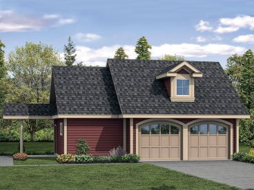 Garage Plan with Storage, 051G-0113