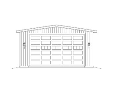 Double RV Garage Plan, 062G-0053