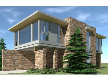 Carport Plan with Apartment, 052G-0017