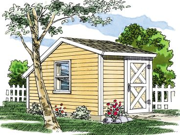 Storage Shed Plan, 033S-0002