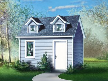 Storage Shed Plan, 072S-0013