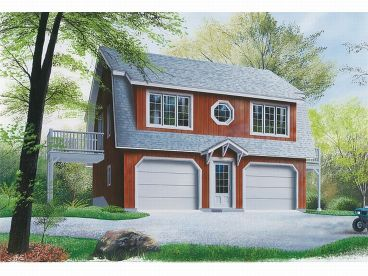Garage Apartment Plan, 027G-0001