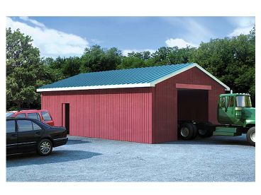 Pole Barn Plan, 047B-0001