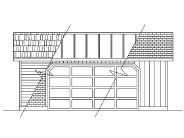 2-Car Garage Plan, 013G-0003
