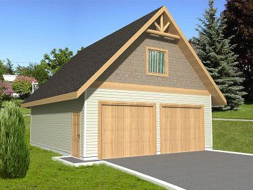 Two-Car Garage Plan, 012G-0028