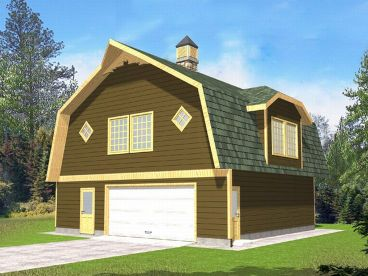 Garage Plan with Storage, 012G-0026