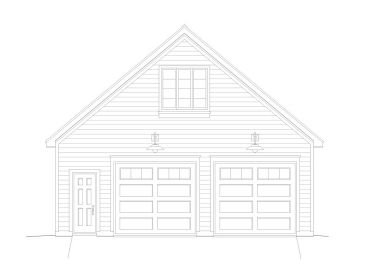 Garage Plan with Loft, 062G-0035
