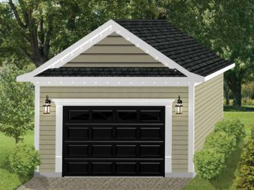1-Car or 2-Car Garage Plan, 072G-0039