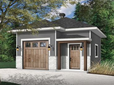 One-Car Garage with Storage, 028G-0064