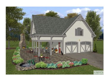 Garage Loft Plans Two Car Garage Loft Plan With Covered