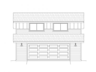 2-Car Garage Loft Plan, 062G-0025