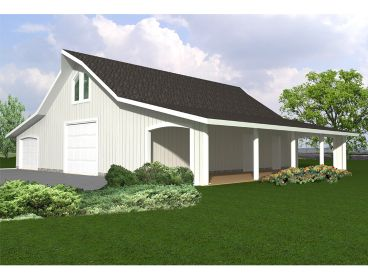Garage Plan with Carport, 012B-0006