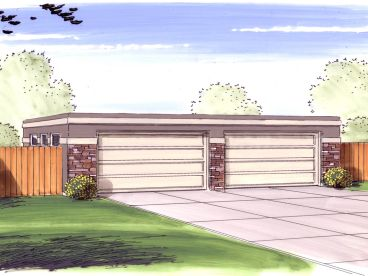 4 Car Garage Plan, 050G-0047