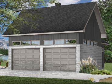 2-Car Garage Plan, Left, 028G-0063