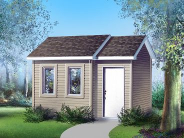 Multi-Size Garden Shed Plan, 072S-0014
