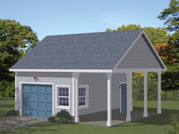 Garage Plan with Storage, 078G-0008