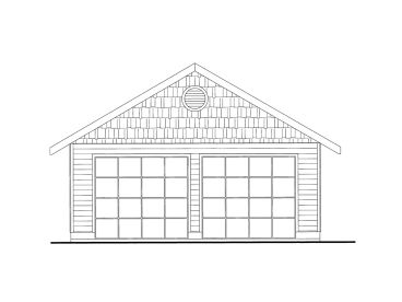 2-Car Garage Plan, 012G-0059