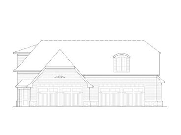 4-Car Garage Loft Plan, 084G-0007