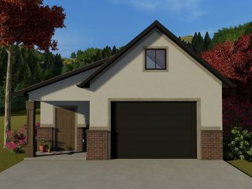 Unique 2-Car Garage Plan, 065G-0004