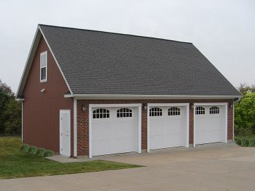 3-Car Garage Loft Plan, 009G-0011