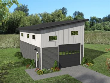 Garage Plan with Storage, 062G-0172